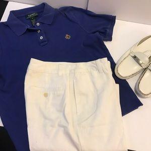 White cotton Capri  pants by Ralph Lauren